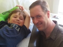 With a patient who beat kidney cancer, Jan2014. I was a part of his medical team from the first hours in the Emergency Room, and these kind of moments are what make my job so worthwhile.