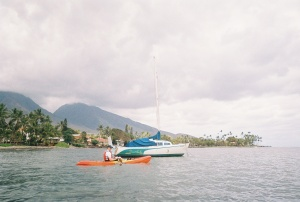 John kayaking in Maui